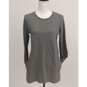 J Jill Small Gray Crewneck Longsleeve Cotton Tunic